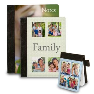 Add your photos and text and create a custom folio notebook for your home or office